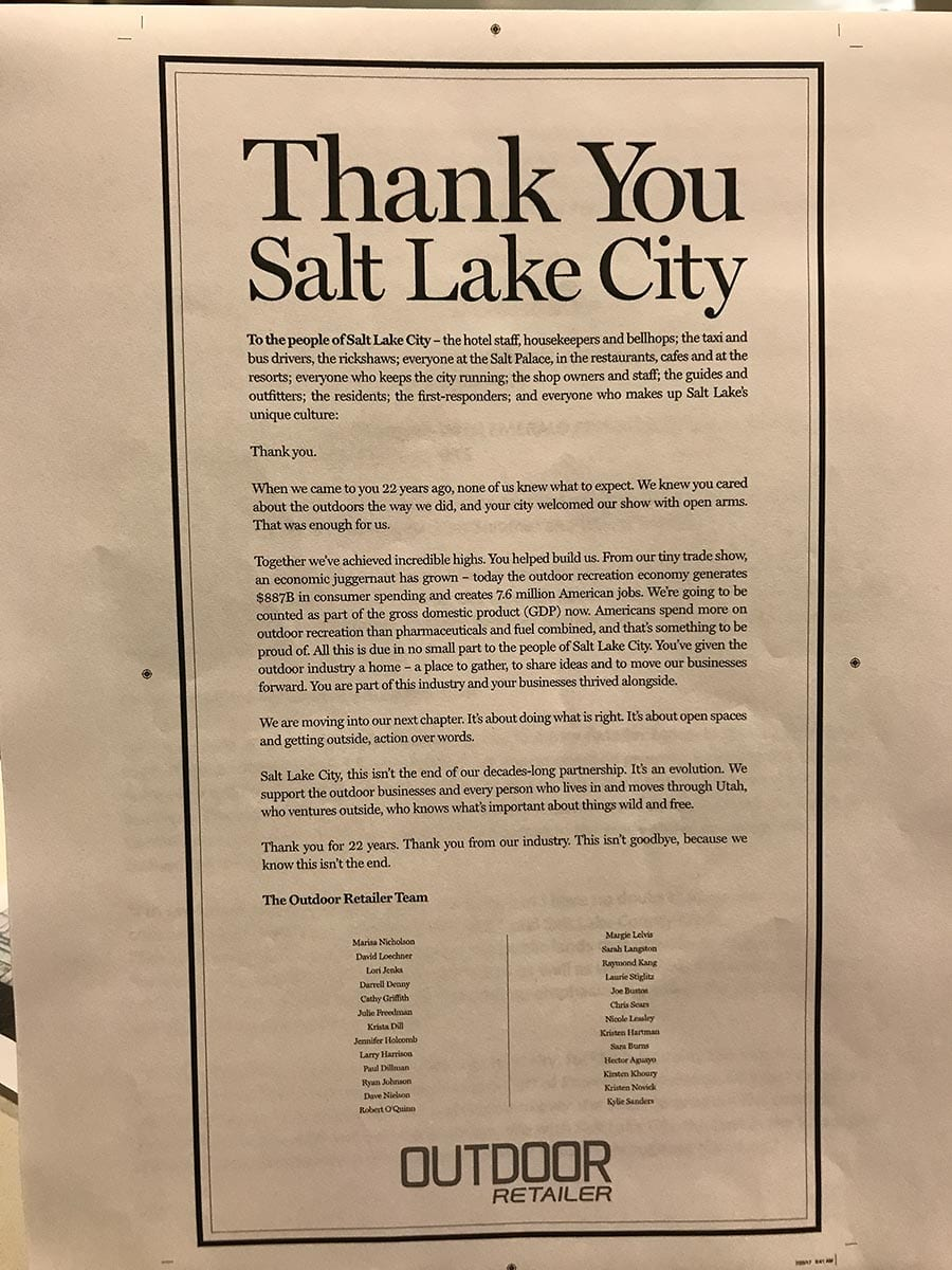 Thank you Salt Lake City
