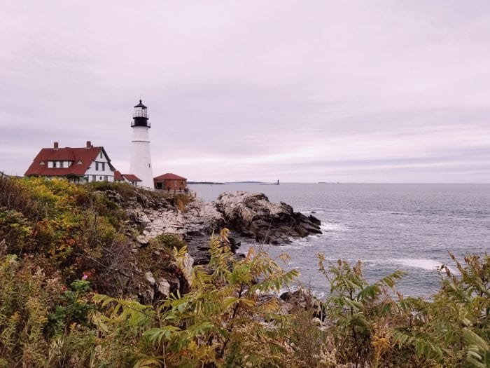 A New England Light House on the Water